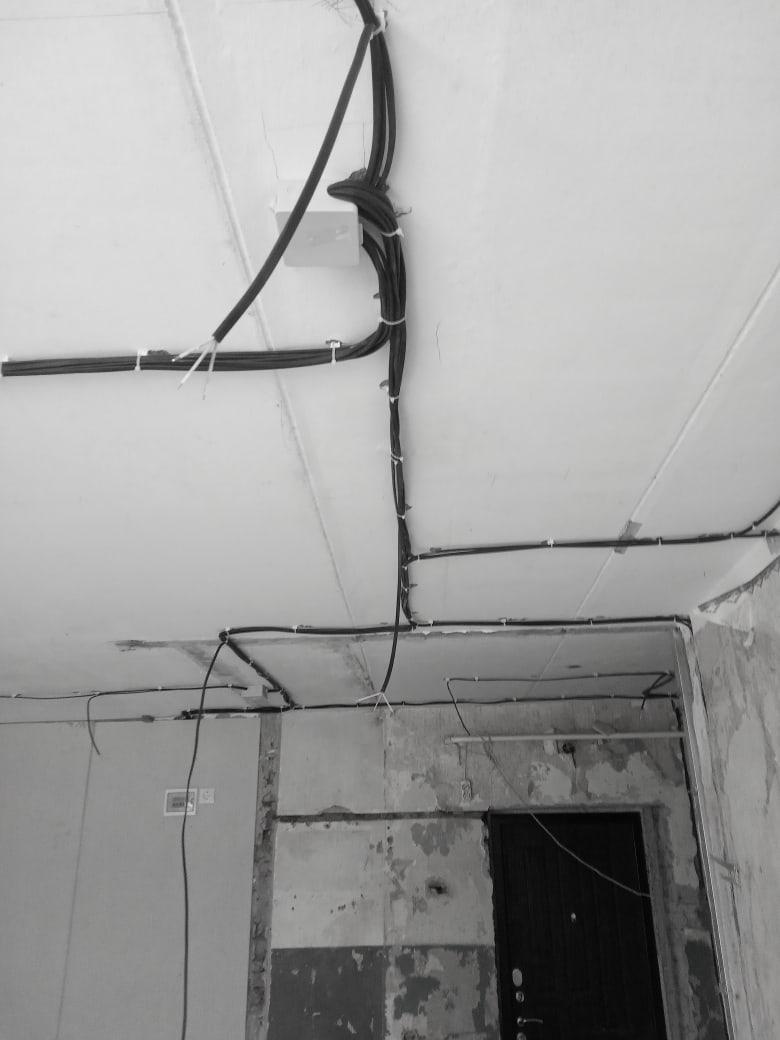Работы по потолку